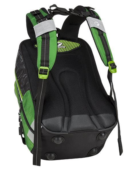 cd7c671bde Bagmaster Školní batoh pro prvňáčky BAGMASTER ALFA 9 D BLACK GREEN GRAY